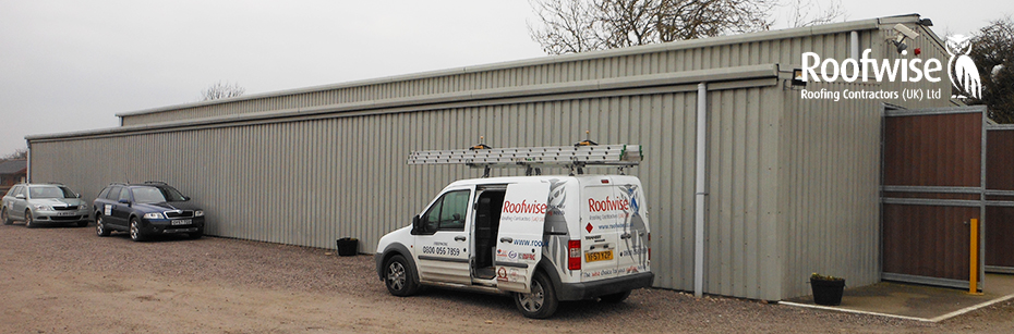 Profiled wall cladding installation in Leicester