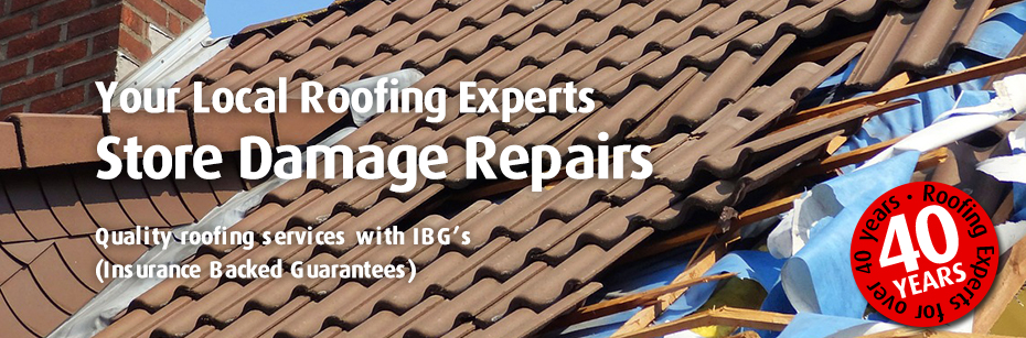 Storm Damaged Roof Repairs in leicester